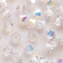 4mm Preciosa Crystal Bicone Crystal AB - 144